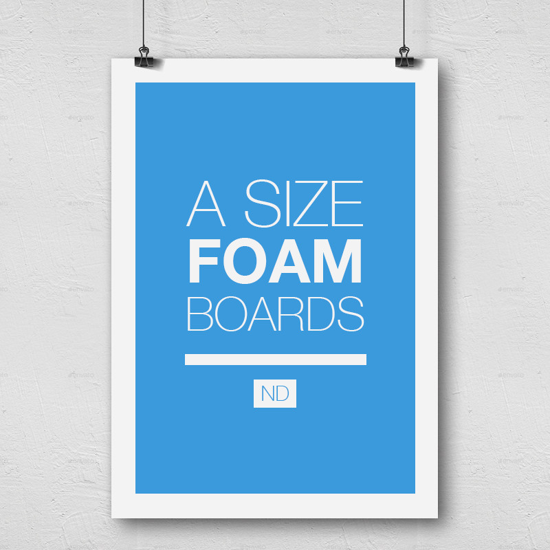 What is a poster board size